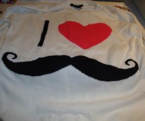 I <3 Mustache Sweater