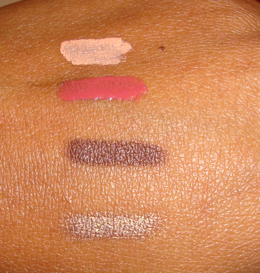The swatches: top to bottom