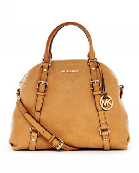 Michael Kors Python Embossed Bedford Extra Large Satchel