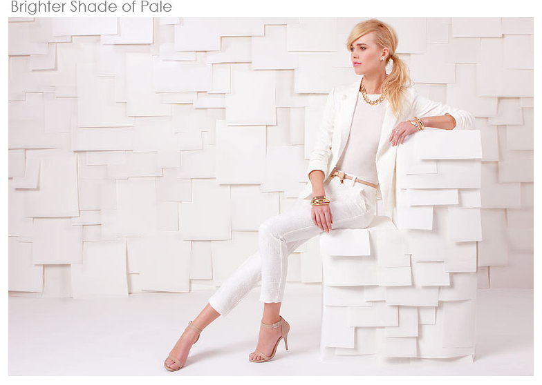 Taken from Lulus.com. Loving this white/nude look