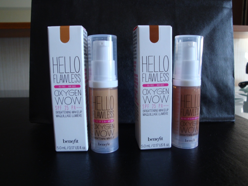 "Hello Flawless: Left - ""Warm Me Up"" Toasted Beige, Right - ""Gotta Know Me"" Nutmeg"