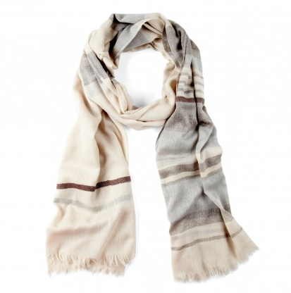 Stripe Scarf in Cream  Photo credit: Sole Society