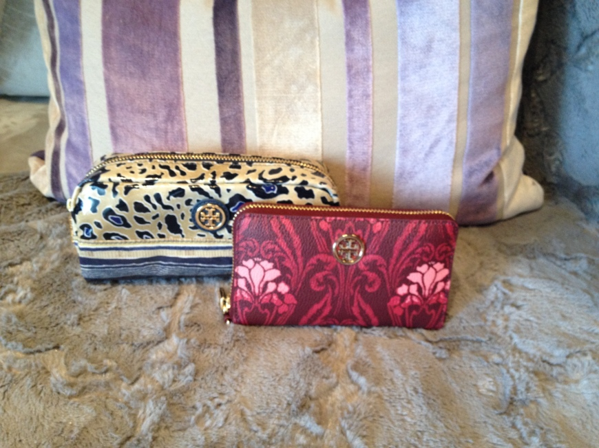 Left: Printed Cosmetic Case Right: Robinson Printed Smartphone Wristlet