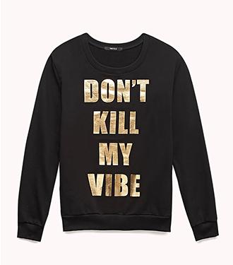 Forever Cool Vibin' Sweatshirt  Image via Forever21
