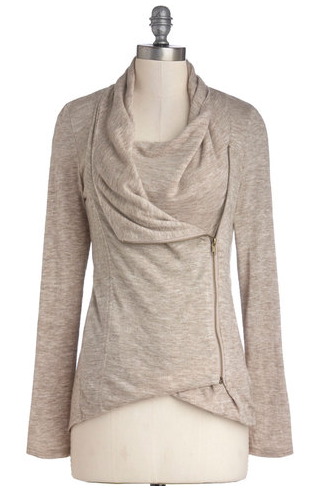 Airport Greeting Cardigan in Oatmeal Image via Modcloth