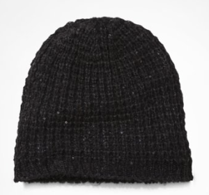 Slouchy Sequin and Metallic Knit Beanie