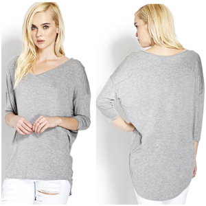Favorite Dolman Top - in grey and taupe