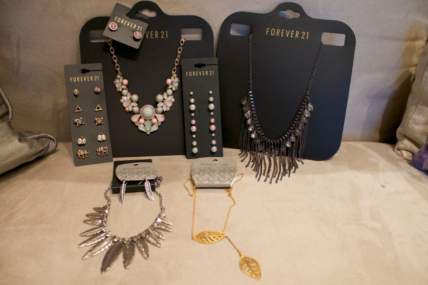 My most recent purchases from Forever21 and World Market