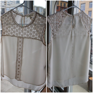 Marshall's Crochet/Chiffon top