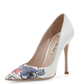 The simplicity of this Miu Miu Pump is exactly what I'm looking for but the price :| Not for a shoe I'd hardly wear.