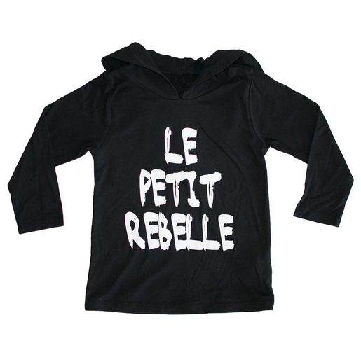 LE PETIT REBELLE BLACK HOODIE (On Sale)