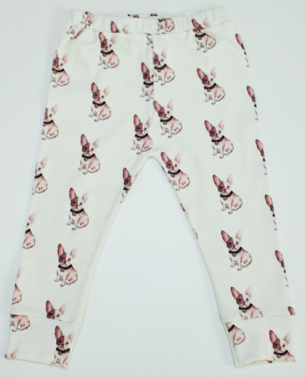 COTTON LEGGINGS IN FRENCH BULLDOG PRINT
