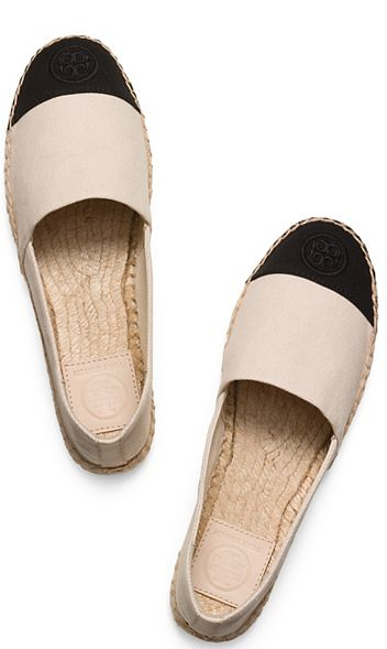 Color-Block Flat Espadrille in Dulce de Leche/Black